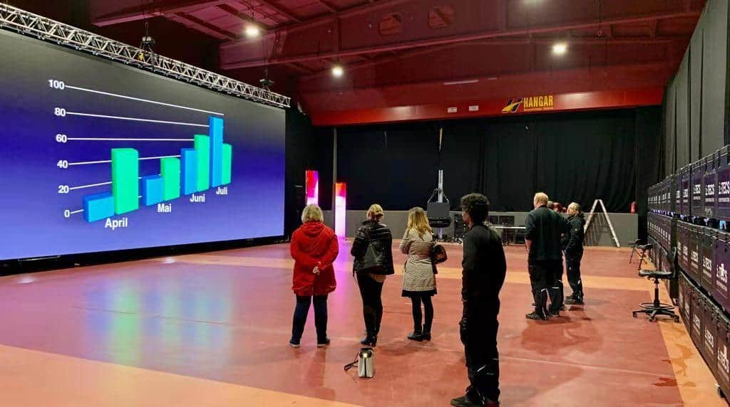 Product presentation in Germany, Matrix 500 LED rental panel 1